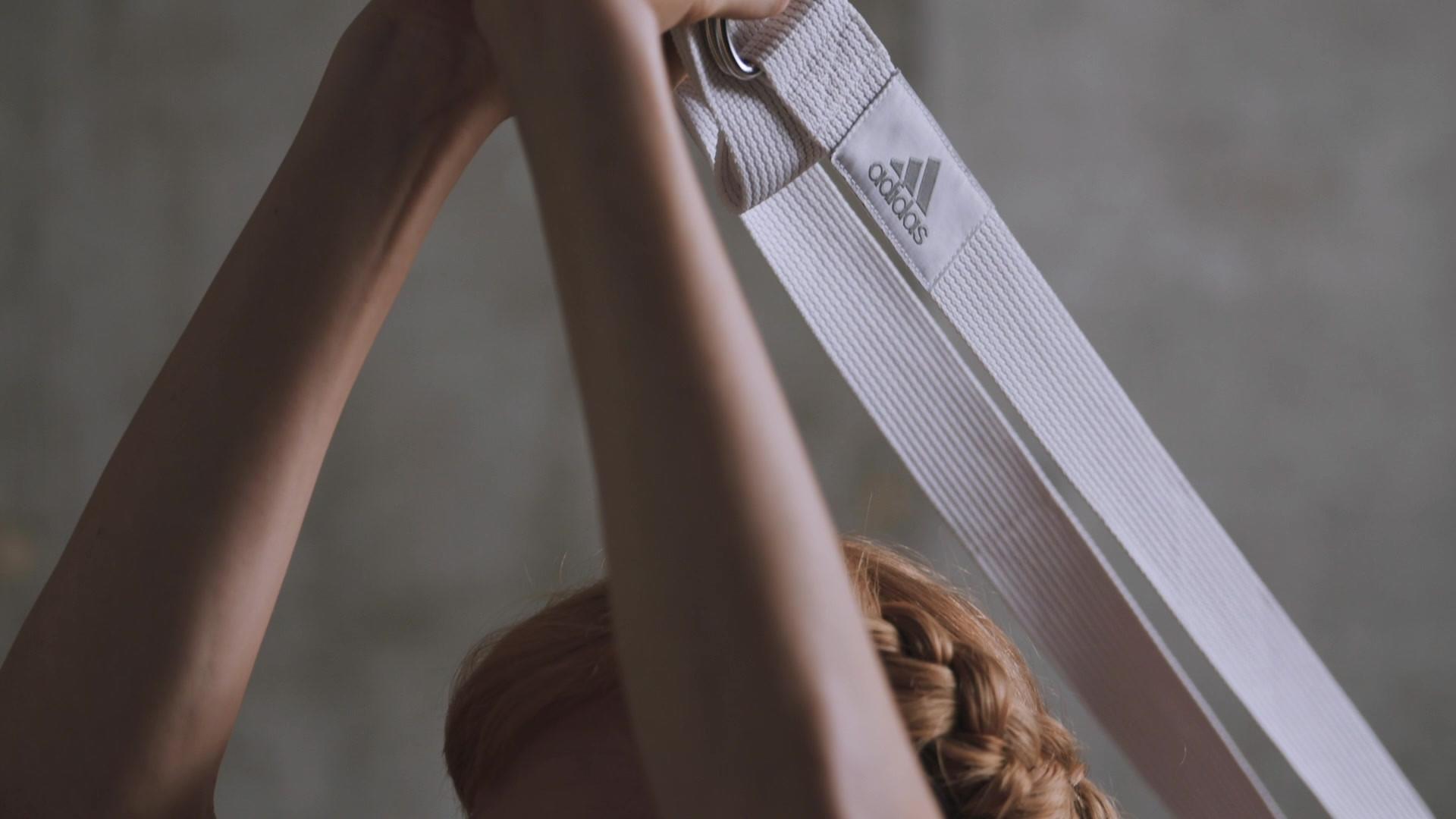 adidas Chalk White Yoga Strap