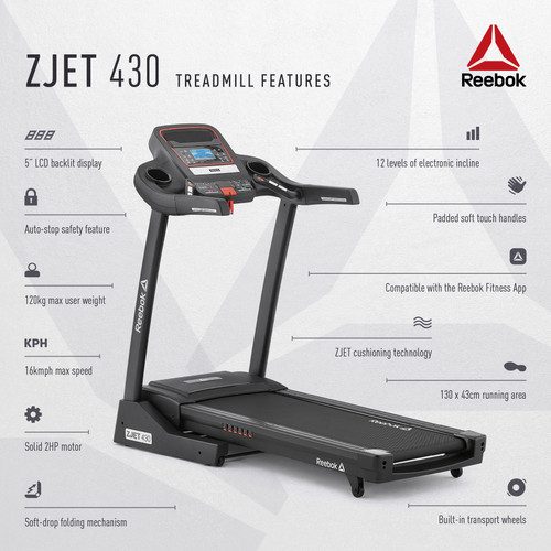 Reebok ZJET 430 Treadmill Features