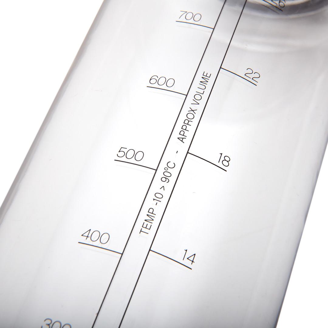 Reebok clear sports water bottle with flip straw