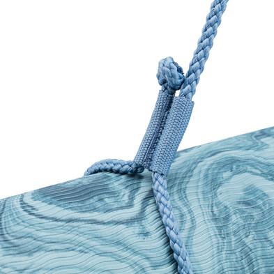 5mm premium yoga mat - blue marble