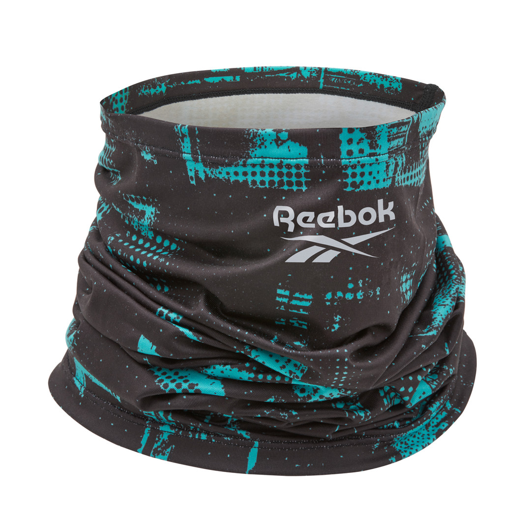 Reebok black and teal neck warmer