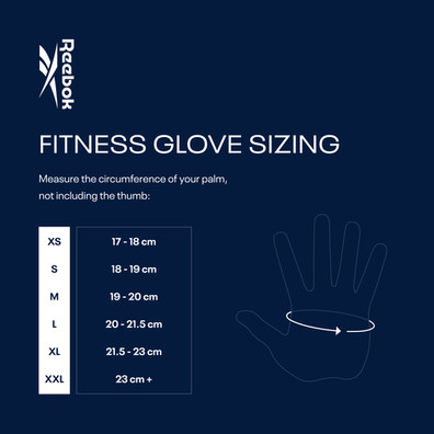 Reebok Speedwick Fitness Gloves Sizing Chart