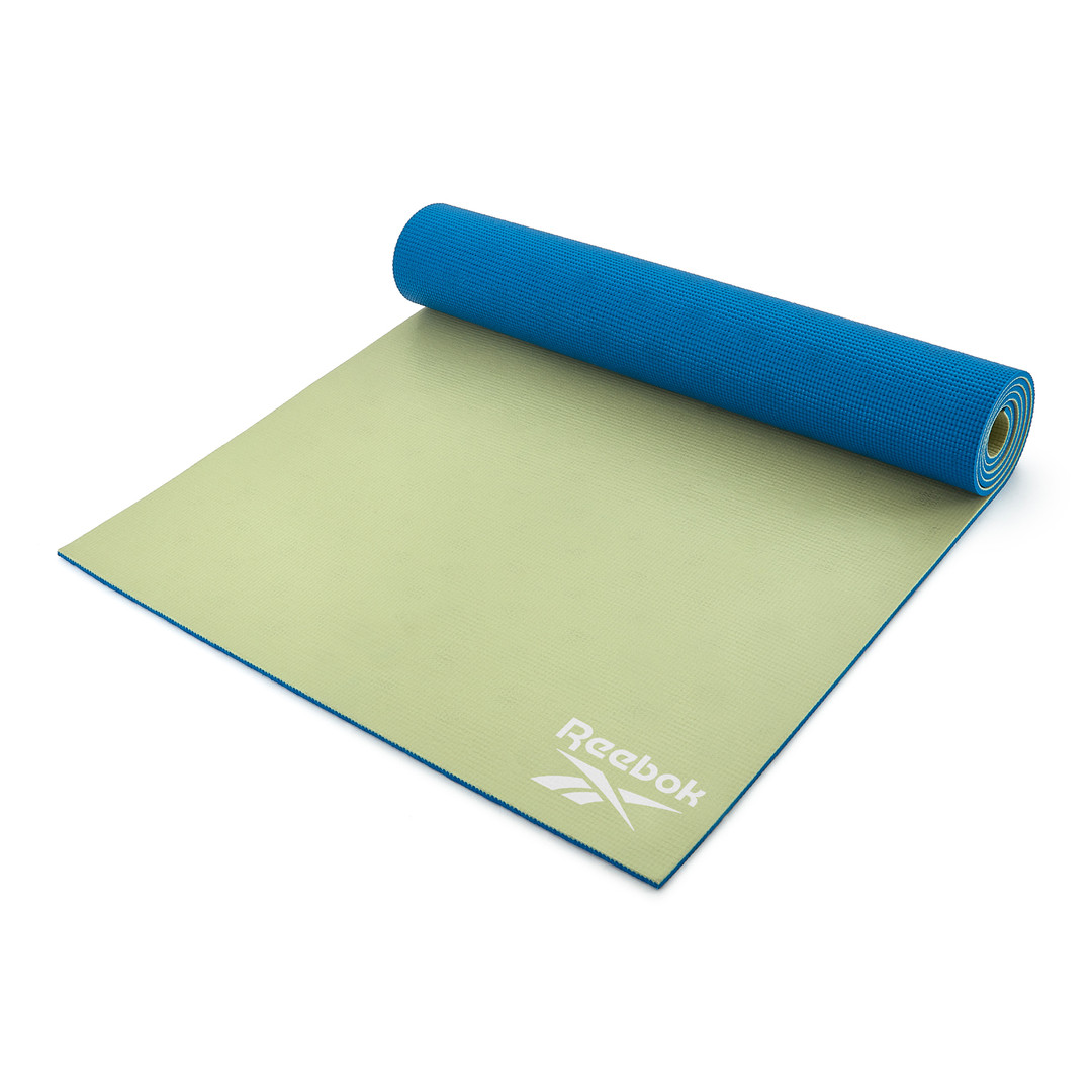 Reebok 6mm blue and green yoga mat