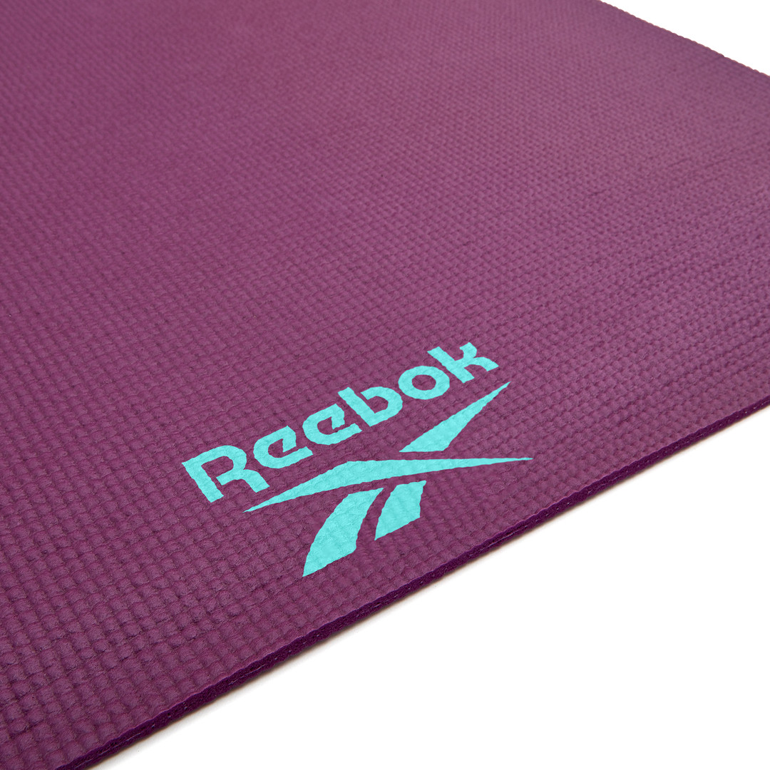 Reebok 4mm purple hi hello hey patterned yoga mat