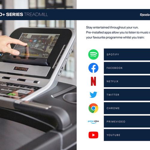Reebok Jet 300+ Treadmill apps