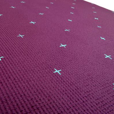 Reebok 4mm purple hi hello hey patterned yoga mat