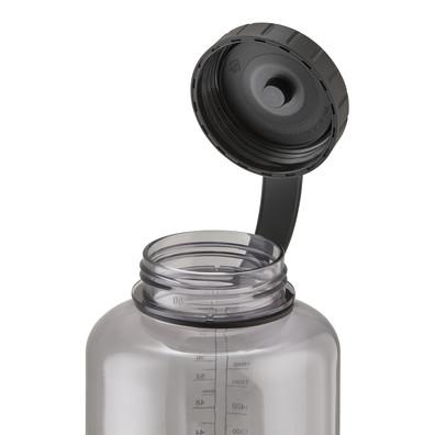 Reebok clear black 1.8l water bottle