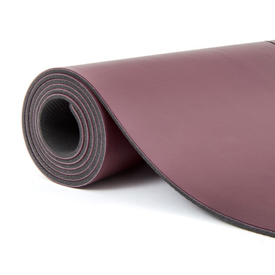 adidas 4mm Natural Rubber Yoga Mat - Burgundy