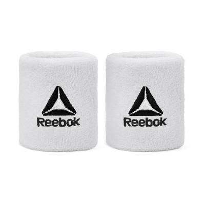 Reebok White Sports Wrist Sweatbands