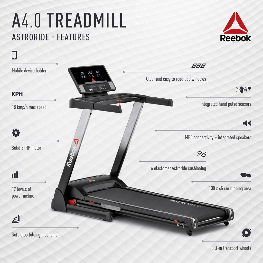 Reebok A4.0 Treadmill Features