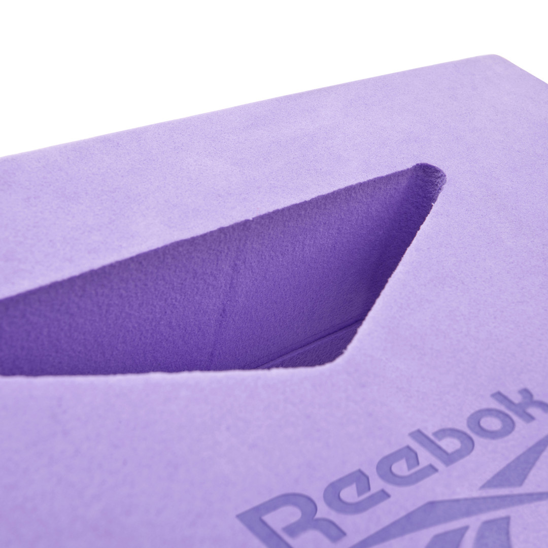 Reebok purple cut-out design yoga block