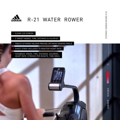 adidas R-21 Water Rower Console