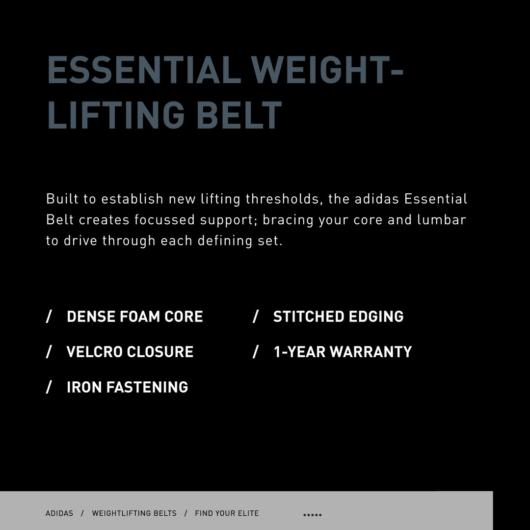 adidas essential weightlifting belt specs