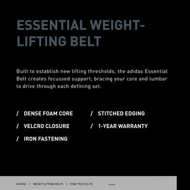 adidas essential weightlifting belt specs