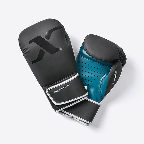 Dynamax black and teal boxing gloves