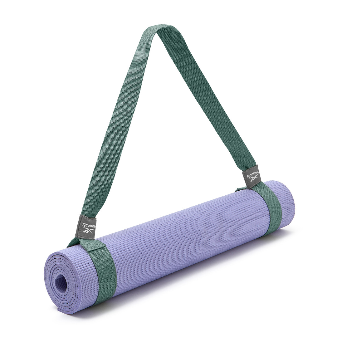 Green Reebok yoga mat carry strap