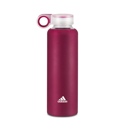 adidas dark pink glass and silicone water bottle