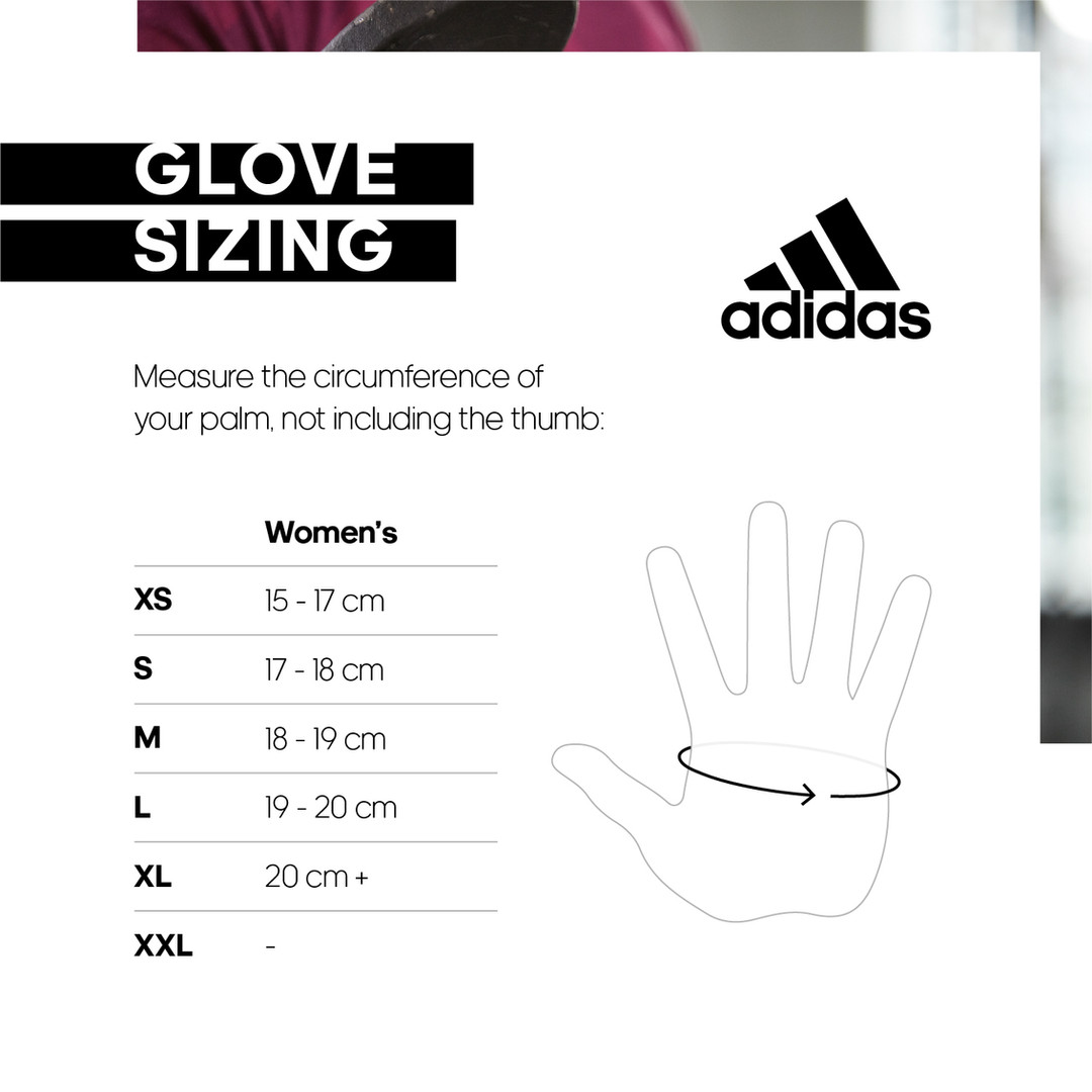 adidas women's gloves size chart
