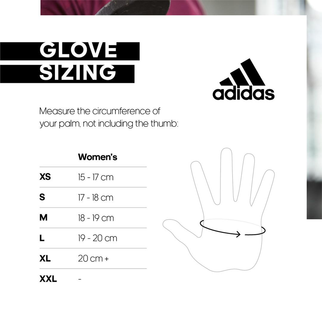 adidas women's gloves size chart