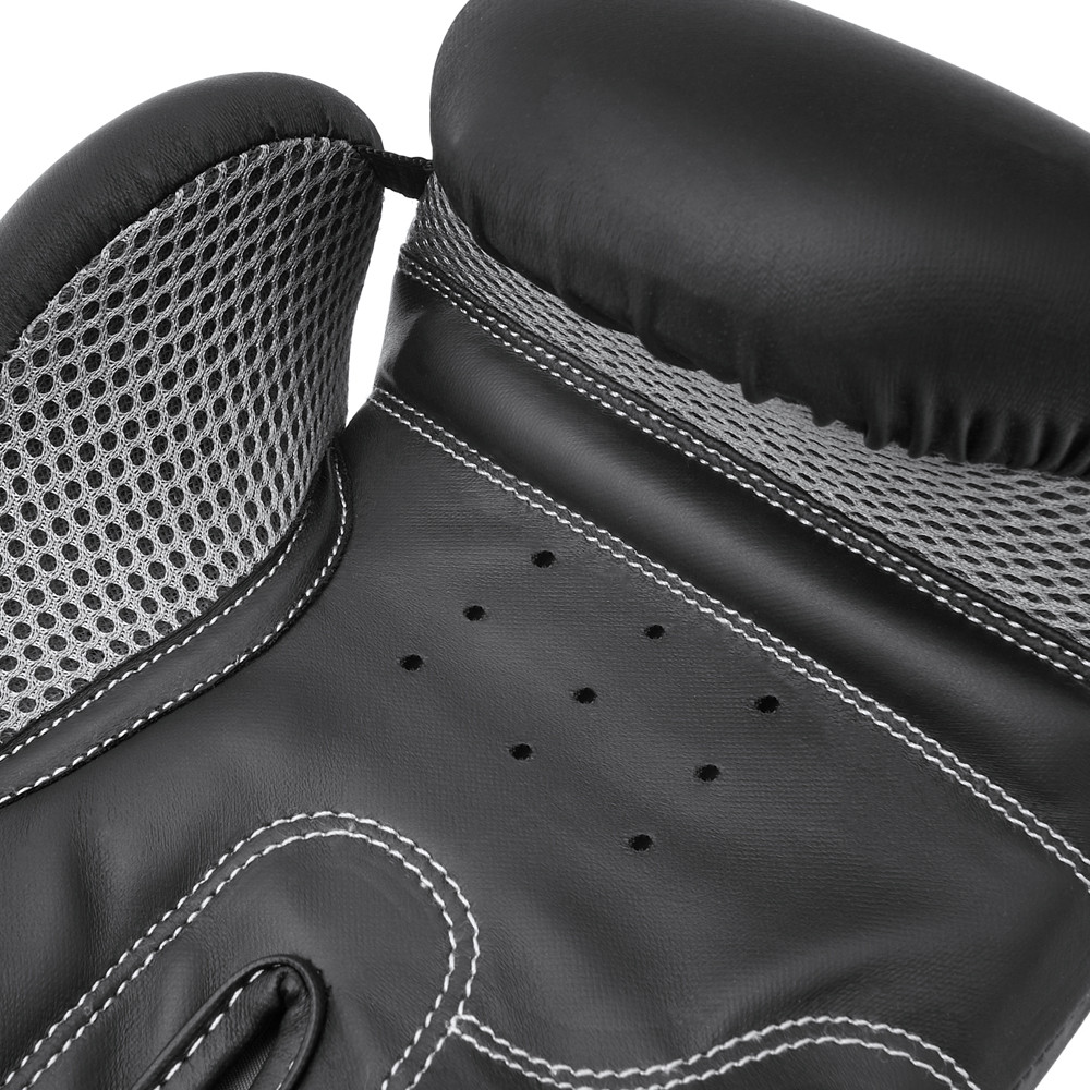 Reebok Black and White Boxing Gloves