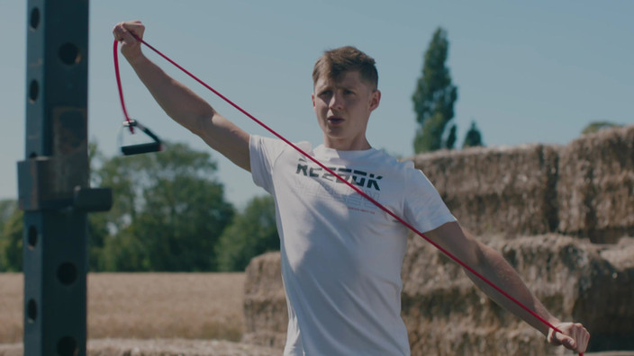 Reebok parallel bars bodyweight workout