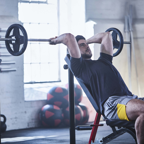 adidas sports utility bench with squat rack