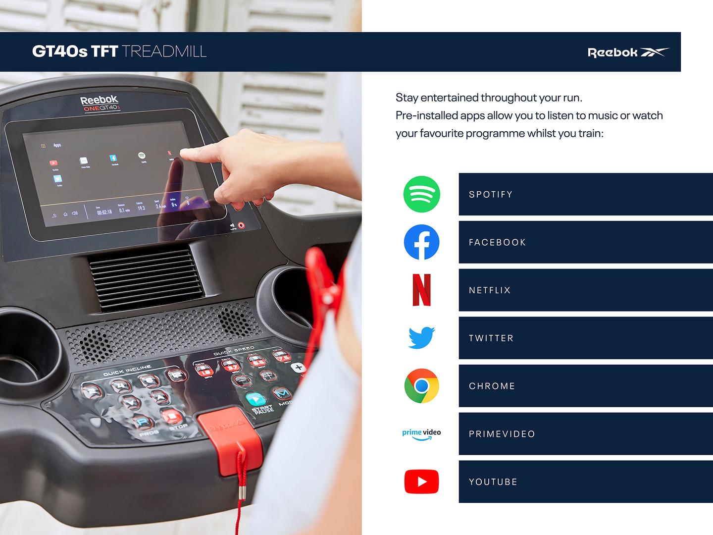 Reebok GT40s Treadmill apps
