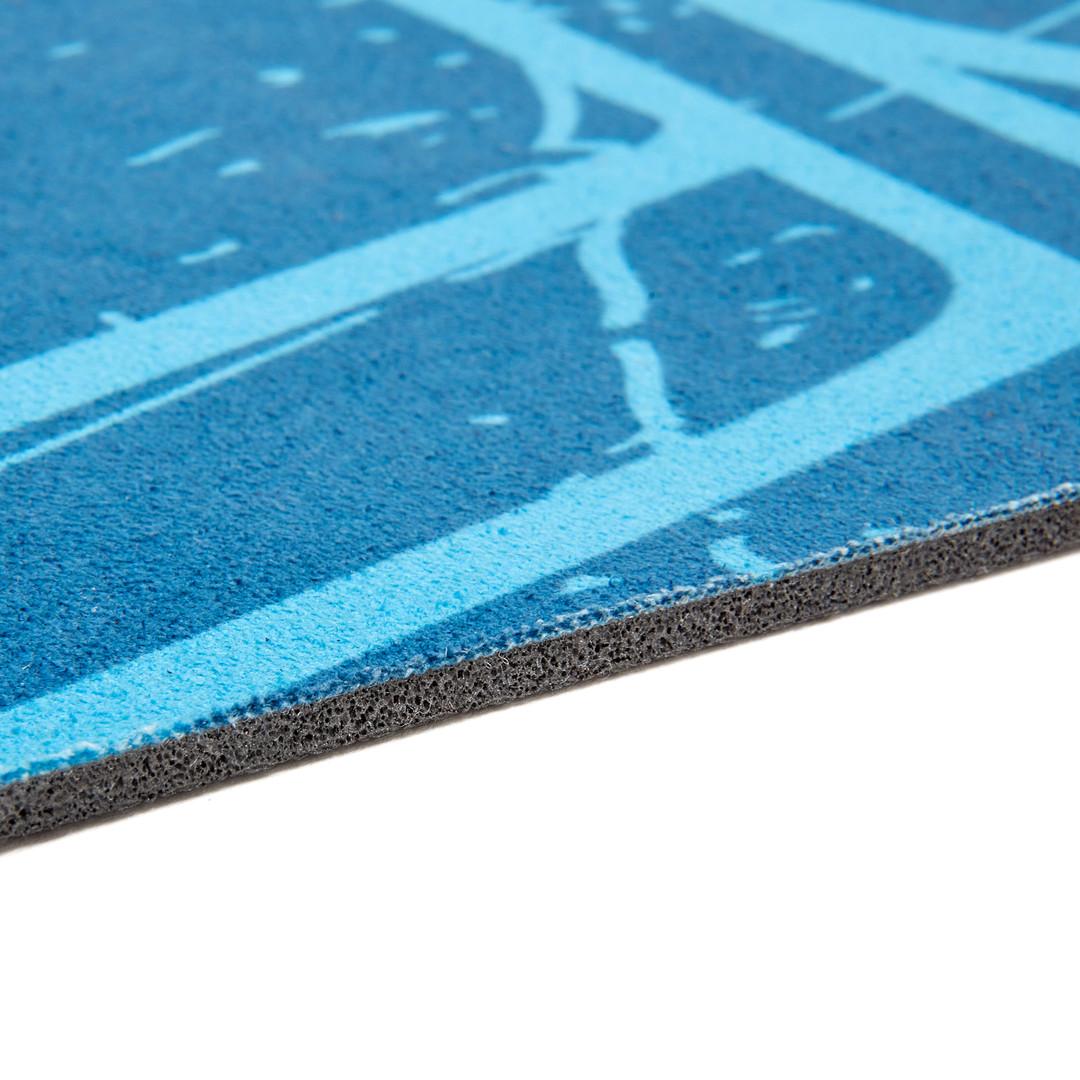 Reebok blue mandala natural rubber yoga mat