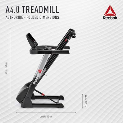 Reebok A4.0 Treadmill Folded Dimensions