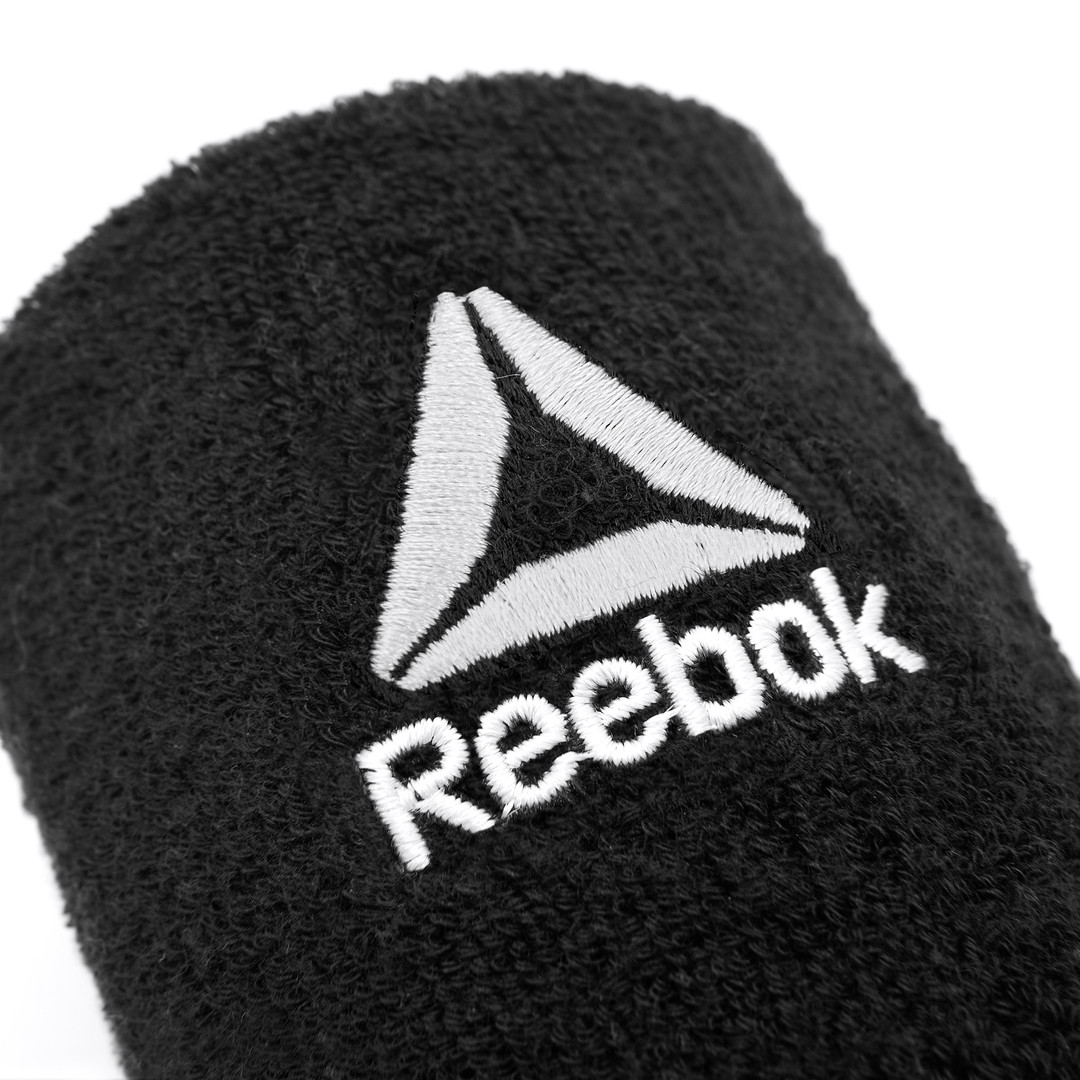 Reebok Black Sports Wrist Sweatbands