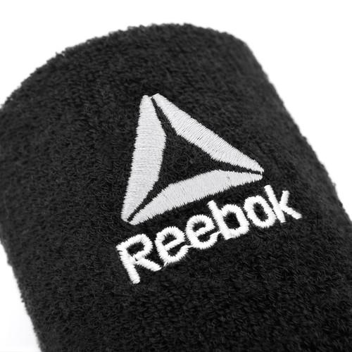 Reebok Black Sports Wrist Sweatbands