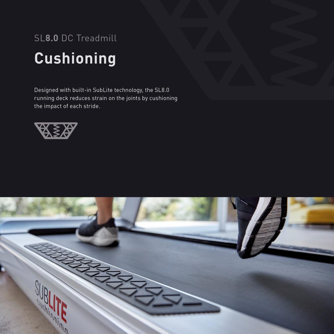 Reebok SL8.0 Treadmill (DC) Cushioning