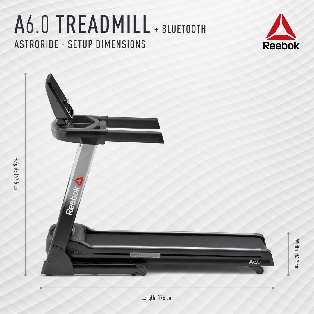 Reebok A6.0 Treadmill Setup Dimensions
