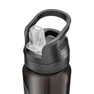 Reebok black water bottle with straw