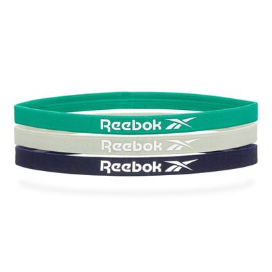 Reebok Sports Hair Bands - Green, Grey & Navy