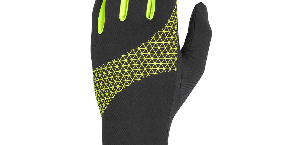 Reebok Black and Yellow High Visibility Running Gloves