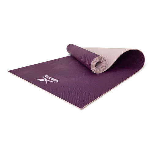 Reebok 4mm purple geometric patterned yoga mat