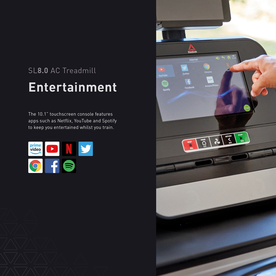 sl8.0 treadmill ac entertainment