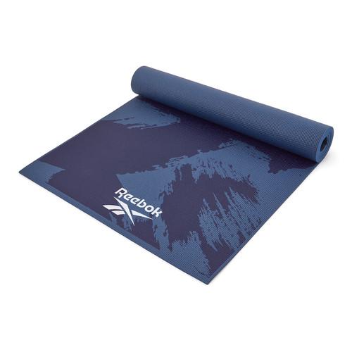 Reebok 4mm blue brush stroke patterned yoga mat