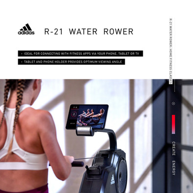 adidas R-21 Water Rower Home Fitness