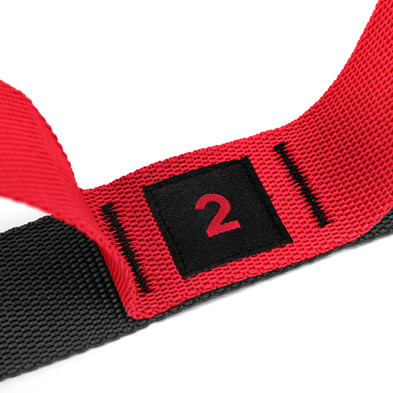 adidas red and black stretch assist band