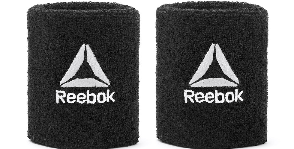 Reebok Training Black Sports Wrist Sweatbands
