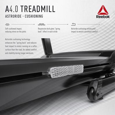 Reebok A4.0 Treadmill Cushioning