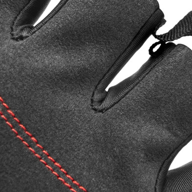 Mens's Essential Gloves - black and red