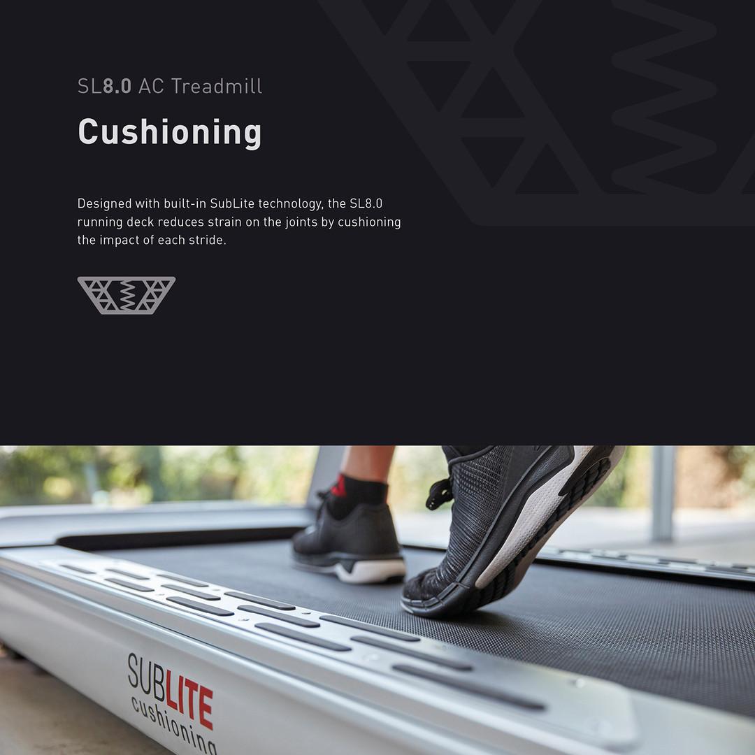 sl8.0 treadmill ac cushioning