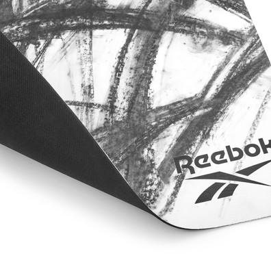 Reebok black and white natural rubber yoga mat