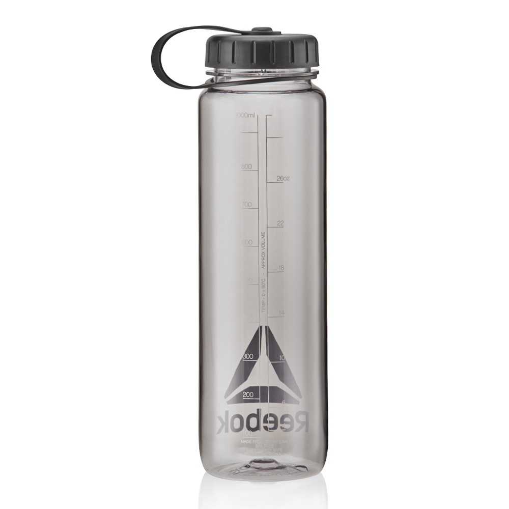 Reebok clear black 1000 ml water bottle
