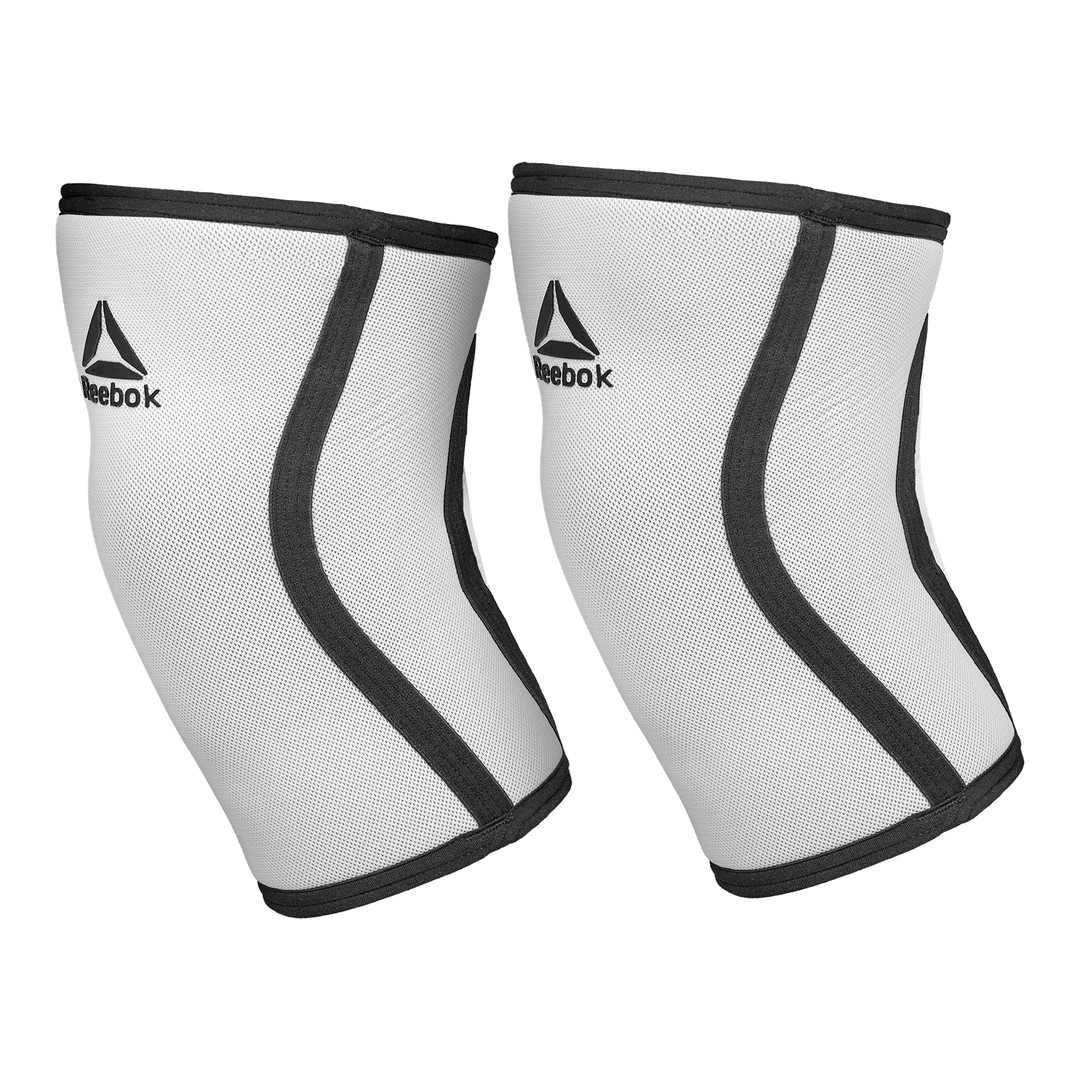 White & Black Reebok Knee Support Sleeves