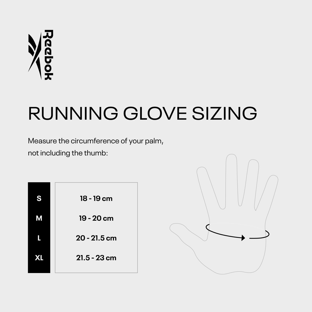 Reebok Running Gloves Sizing