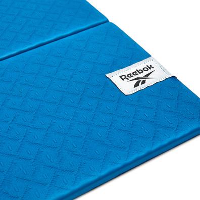 Reebok 6mm blue folded yoga mat
